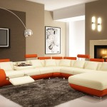 Brown Accent Wall Paint Colors For Modern Living Room