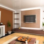 Brown And White Accent Wall Paint Colors For Small Living Room