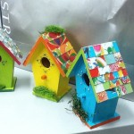 Chic Hand Painted Birdhouse