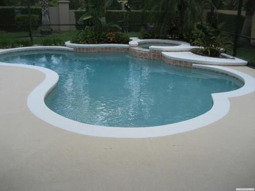 Colorful And Interesting Pool Deck Paint After