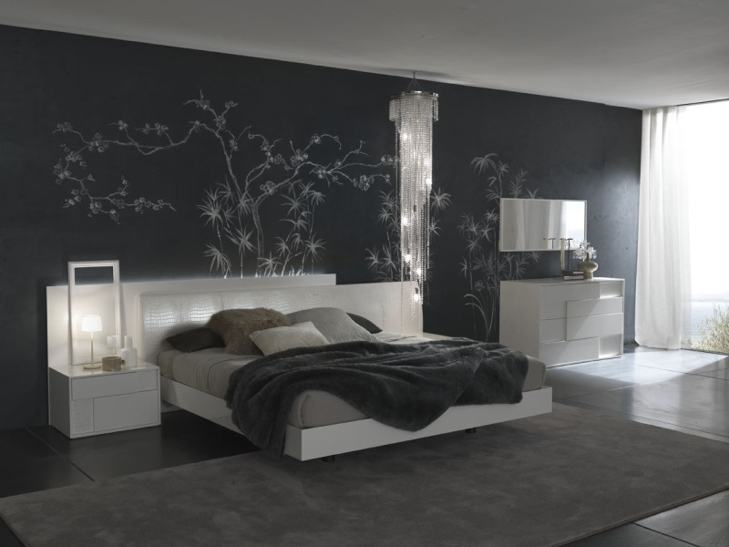 Contemporary Bedroom And Painting The Wall Pictures
