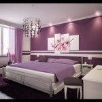 Cool Purple Bedroom Decorating Wall Painting Ideas