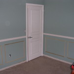 Crisp White Semi Gloss Paint And Crown Moulding