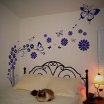 Customerwalldecal Flower Painting The Wall