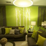 Decorative Wall Painting Lime Green
