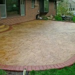 Design Revealed Stunning Painting Backyard Concrete Patio Ideas