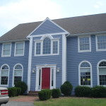 Exterior House Painting Blue Colors