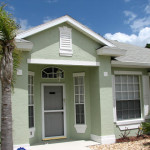 Exterior This Cocoa Home Two Coats Richards Paint