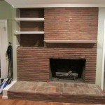 Fireplace Before The Solution Dated Brick