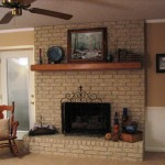 Fireplace Painted Brick Anew