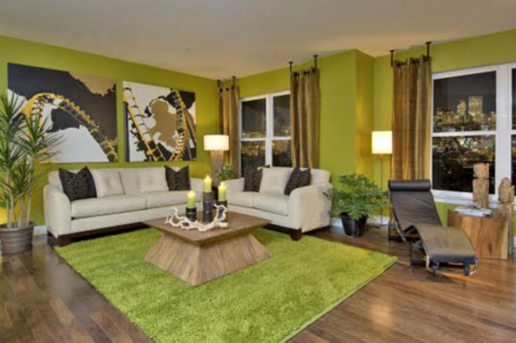 Green Wall Paint For Living Room
