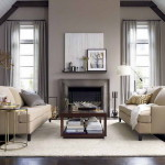 Grey Brown Paint Color For Drapery Interior Design