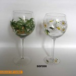 Hand Paint Wine Glass Sgf