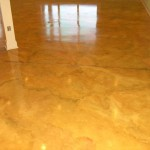 Here Are Two Concrete Floors That Have Been Painted