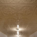 Here What The Ceiling Looks Like When Tiles Have Been Painted