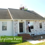 Homeowner Diy Success Lime Paint Brick