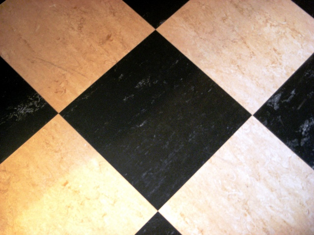 How Paint Black And White Tile Floor