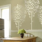 Linden Tree Wall Stencil Reusable Easy Diy Home Decor