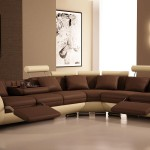 Luxury Brown Living Room Design Wall Paint Picture Frame
