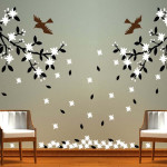 Many Kinds Unique Wall Painting Design Patterns For Living Room