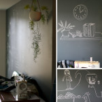 Mentioned Here Painting One Our Walls Chalkboard Paint And