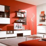 Modern Living Room Red Paint Colors Green