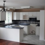 Modern White Beige Kitchen Walls Paint