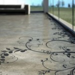 Painted And Stenciled Concrete Floors