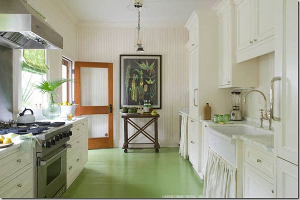 Painted Floors Lend Themselves Vibrant Color Selections And The