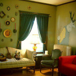 Painting Ideas For Living Rooms Paint Accenting Green