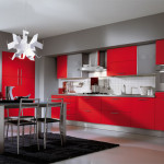 Painting Ideas Red And White Kitchen
