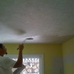 Painting Popcorn Ceiling Yellow Wall
