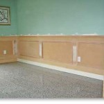 Painting Wainscoting Lite Green Colour