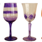 Pesach Hand Painted Wine Glasses