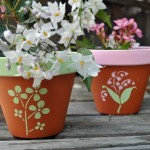 Simple Painting Clay Flower Pots