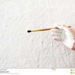 Stock Painting The Walls White Paint