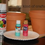 Terra Cotta Pots Acrylic Paints Krylon Finishing Coat Sealer
