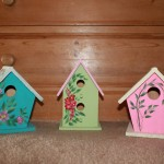These Cute Bird Houses Started Out Plain Wood Bought Them