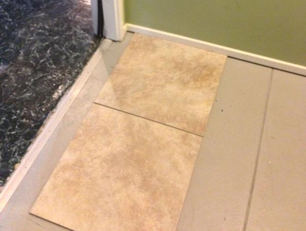 Tile Over Painted Concrete Cannot Remove Paint What Are The