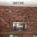 Tutorial How Paint Old Brick Fireplace