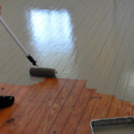 Using Roller Paint Our Wood Floor