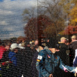 Vietnam Veteran Memorial Wall Remembering Those Who Served