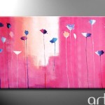 Wall Painting Pink Garden Click Enlarge