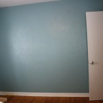 Was Painting The Board Part Our Wall Semi Gloss Paint