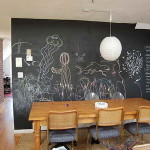 What Chalkboard Wall Paint Wooden Table