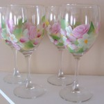 Wine Glass Painting Simple Designs