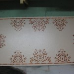 You Can Paint And Stencil Plain White Drop Ceiling Tile