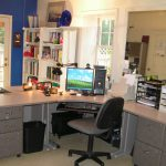 Archaic Home Office Colors Ideas Cool Navy Blue Paint Color And