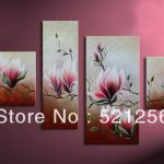 Artwork Canvas Paintings Framed Art Print Painting Flower
