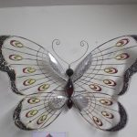 Beautiful Large Red Metal Butterfly Wall Art